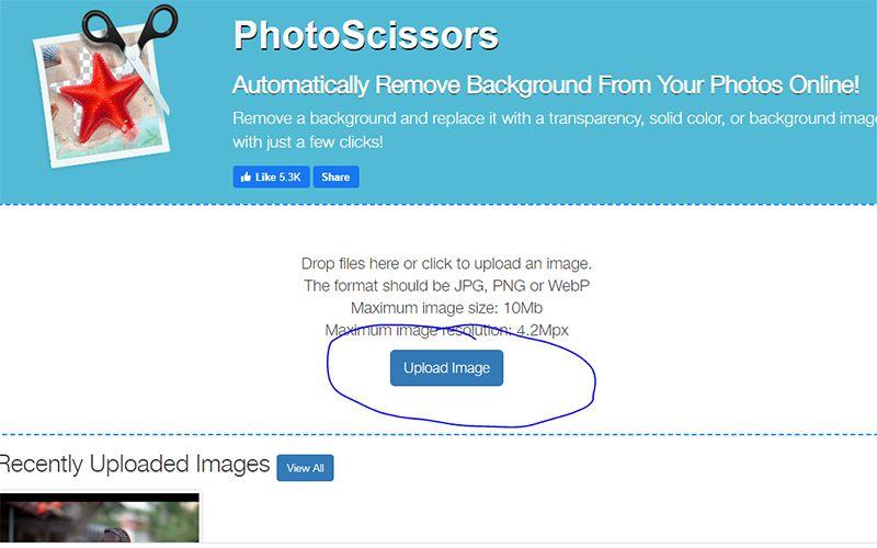 Truy-cap-vao-PhotoScissors-lua-chon-Upload-File