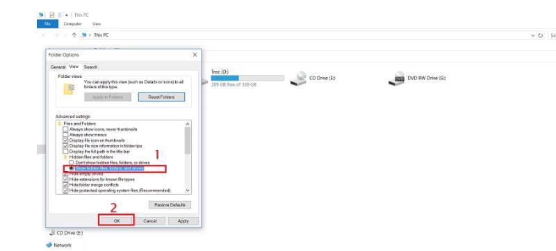 Tổng hợp toàn bộ những cách hiện file ẩn trong USB.